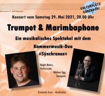 Kulturplatz-Konzert: Trumpet & Marimbaphone